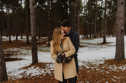 Kohler Andrae Sheboygan winter engagement session